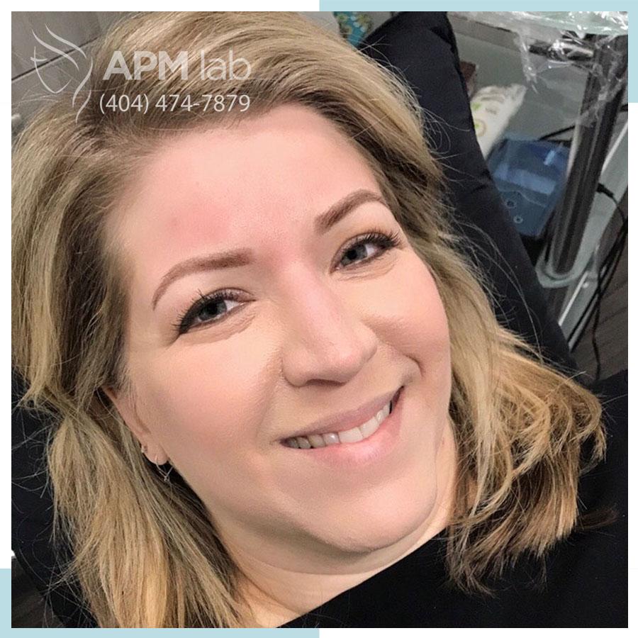 permanent makeup after